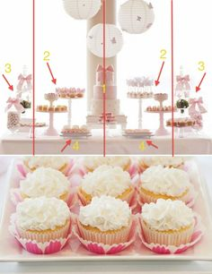 Festa, composiçao mesa bolo, decoraçao de mesa Partying Hard, Childrens Party, Princess Party, Mini Cupcakes, Birthday Party Themes, Party Time, Birthdays, Barbie, Baby Shower