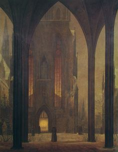 Ernst Ferdinand Oehme, Cathedral in Winter 1821