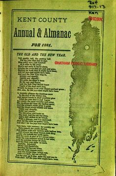 Kent County annual & almanac for 1881