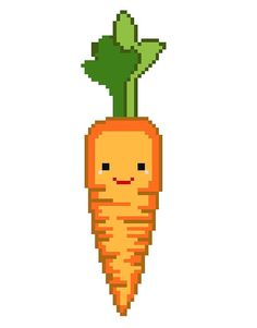 Happy Carrot - Modern Cross Stitch Pattern - PDF - Instant Download on Etsy, $2.00 #stitcheslittle
