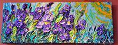 Brand new day :) Floral Artist. #sunshine #dreams #purple #iris #flowers #wind #warmth #bright #morning #garden #life #art #impasto #painting
