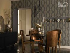 Graphika wallpaper by Dulux used as part of our Great Gatsby palette.