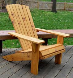 Free Adirondack Chair Plans - Step 8 - hi Applying Finish Adirondack Furniture, Adirondack Chairs, Rustic Furniture, Funky Furniture, Adirondack Chair Plans Free, Plywood Furniture, Outdoor Furniture, Diy Wood Projects, Furniture Projects