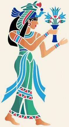 Stencil Designs from Stencil Kingdom Stencil Art, Stencil Designs, Stencils, Egyptian Drawings, Egyptian Tattoo, Ancient Egyptian Costume, Egypt Art, 3d Laser, Black Artwork