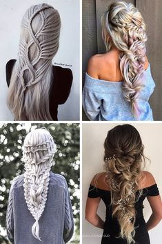Easy Hairstyles For Long Hair, Braids For Long Hair, Braided Hairstyles, Cool Hairstyles, Pantene, Hair Up Styles, Fantasy Hair, Crazy Hair, Hair Art