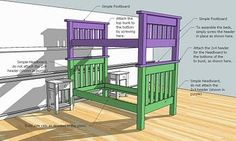 Simple Bunk Beds build plans...I plan to make some detail changes to foot/headboards to be like the farmhouse beds