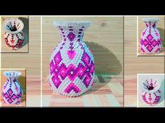 Cómo hacer 3d origami jarrón 41 - parte 1 - YouTube