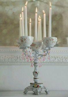 Castiçal porcelana