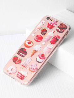 56a66fe3bc Shop Snacks And Fruit Print iPhone 6 Plus Case online. SheIn offers Snacks  And Fruit Print iPhone 6 Plus Case & more to fit your fashionable needs.