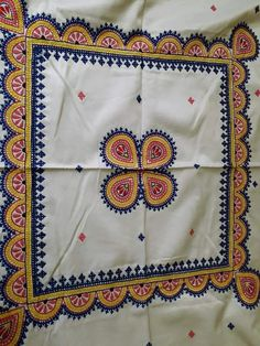 Hand Embroidery Videos, Hand Embroidery Flowers, Hand Work Embroidery, Simple Embroidery, Hand Embroidery Stitches, Hand Embroidery Designs, Embroidery Patterns, Handmade Bed Sheets, Kutch Work Designs