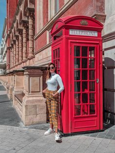 Out and about London town! Telephone box in London London Travel, Wall Collage, Telephone, Fashion Bloggers, Road Trips, Travel Inspiration, The Incredibles, Women's Fashion, Street Style