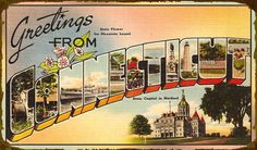 State Postcard, Connecticut