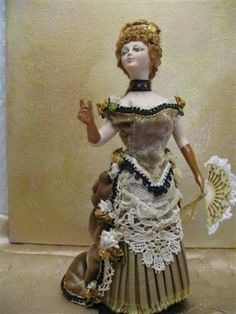 Miniature 1/12 scale doll house porcelain lady doll by KaysStudio