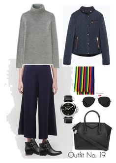 """Vacation Outfits - FALL 2017"" by nykko-1 on Polyvore featuring Uniqlo, Givenchy, Panerai, Ray-Ban and Børn"