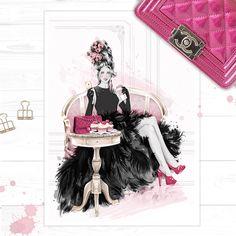 Let Them Eat Cupcakes Print by fashion illustrator Cristina Alonso http://shop.cristinalonso.com/