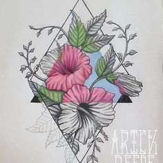 Amazing Drawings, Amazing Art, Art Drawings Sketches, Tattoo Drawings, Flower Art, Floral Flowers, Tattoo Project, Lego, Geometric Art