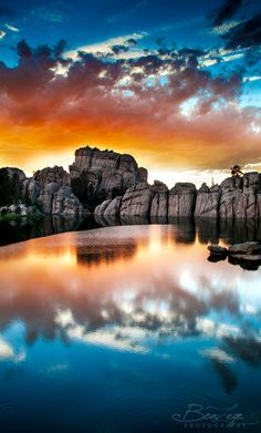 Sunset at Sylvan Lake, Black Hills, SD, by Bonny Fleming