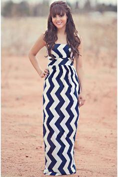 Summer Waves Navy Maxi Dress-NAVY-CLEARANCE FINAL SALE