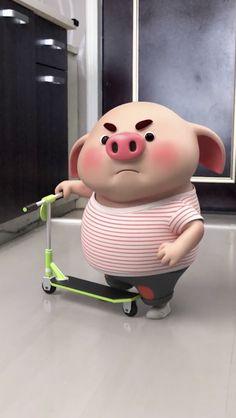 Pig Wallpaper, Pig Drawing, Pig Illustration, Funny Pigs, Mini Pigs, Cute Piggies, Baby Pigs, Little Pigs, Kawaii