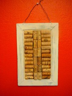 Sabby Chic /Wine Cork Art / Wall Hanging/ by Happiness2DAY on Etsy, $24.99