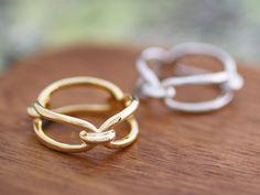 Handmade Link Ring by SilverStellaJewel on Etsy
