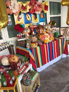 Lucio Decades Event | CatchMyParty.com 18th Birthday Party Themes, Mexican Fiesta Birthday Party, Theme Parties, Mexican Theme Baby Shower, Fiesta Theme Party, Mexican Party, 2nd Birthday, Birthday Ideas, Mexican Candy Table