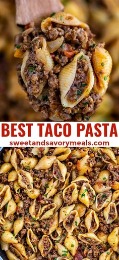 Taco Pasta makes for a cheesy and meaty dinner option that is easy to prepare! I… Taco Pasta makes for a cheesy and meaty dinner option that is easy to prepare! It is a runaway winner in my household, and it only takes 30 minutes to make! Wallpaper Food, Pasta Facil, Meal Prep Plans, Pasta Primavera, Cooking Recipes, Healthy Recipes, Easy Food Recipes, Recipes For Two, Salad Recipes