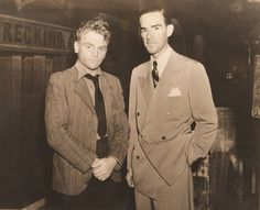 james cagney with orchestra leader will osborne on the set of the roaring twenties. (we hope.)