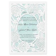 rustic garden laser cut pocket - wedding invitations