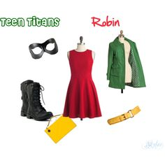 """""""Teen Titans-Robin""""- I could do this for halloween Teen Titans Robin, Casual Cosplay, Cosplay Outfits, Teen Titans Outfits, Batman Outfits, Super Hero Outfits, Cool Outfits, Female Joker Costume, Robin Outfit"""