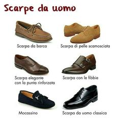 Scarpe da uomo#vocabolarios... Italian Words, Italian Art, Italian Vocabulary, Cap Toe Shoes, English Tips, Monk Strap Shoes, Italian Language, Learning Italian, Student Fashion