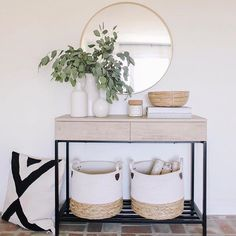Our console table is in stock and off today using code FREEDOM (linked in bio).🎊 Did a little summer styling around the house this… 41 Entry Table Ideas to Liven up Your House in Details RH console table Decoration Hall, Entryway Decor, Entryway Ideas, Modern Entryway, Hallway Table Decor, Hallway Console Table, Entryway Mirror, Apartment Entryway, Hallway Decorating