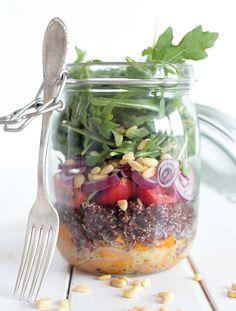 7. Butternut Squash and Quinoa Mason Jar Salad - 18 vegetarian lunch ideas