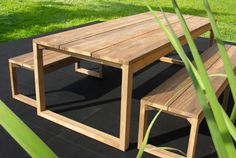 Mamagreen Outdoor Furniture - We use quality teakwood and recycled teak for a rustic yet modern look. Visit us to see our full range of eco friendly furniture. http://www.mamagreen.com.au/ #teak #furniture