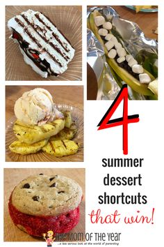 Need a last minute crowd-pleasing dessert? Try these 4 family-friendly recipes and make quick work with these summer dessert shortcuts! Try these 4 family-friendly recipes and make quick work of the perfect summer desserts that will suit Summer Desserts, Summer Recipes, Baby Food Recipes, New Recipes, Baby Food Mill, Food Mills, Outdoor Food, Easy Family Meals, Party Treats