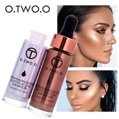 Price-4$ 2017 New Contouring Liquid Highlighter Brand Cosmetic Waterproof Face Contour Shimmer Bronzers Highlighters o.two.o Makeup