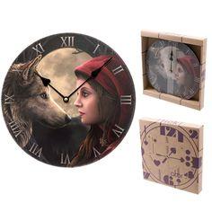Fantasy Moon Struck Wolf Design Decorative Wall Clock