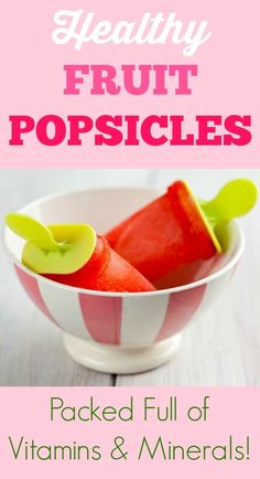 Coconut Water Fruit Popsicles Recipe - so easy and healthy! No refined sugar.