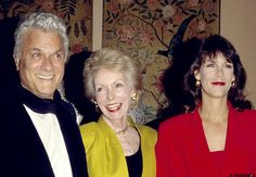 Actor Tony Curtis with actress Janet Leigh and their daughter, actress Jamie Lee Curtis.