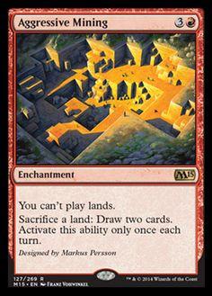 M15 Spoilers - Aggressive Mining Rare Card Review