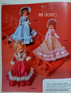 Ana Caldatto : Boneca Sissi e Boneca Lisa da Estrela anos 70