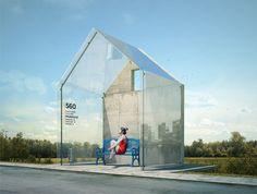 Концепция автобусной остановки — RASTVORGROUP