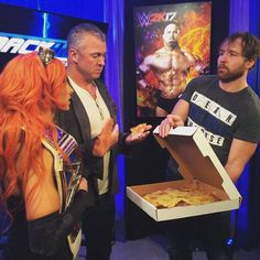 Gets pizza for everybody, such a great guy.