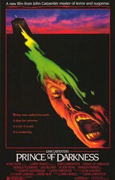 """Cartel película """"El príncipe de las tinieblas"""" 1987"""