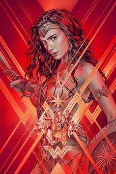 Wonder Woman by Martin Ansin - Home of the Alternative Movie Poster -AMP- Wonder Woman Art, Wonder Woman Comic, Gal Gadot Wonder Woman, Ms Marvel, Marvel Dc Comics, William Moulton Marston, Batwoman, Nightwing, Heros Comics