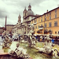 "sample the famous ""gelati"" ice cream at Piazza Navona The Places Youll Go, Places To See, Piazza Navona, Rome Travel, Travel Stuff, Rome Italy, Paris Skyline, The Good Place, Travel Inspiration"