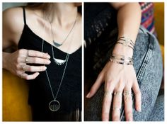 Silver Geometry Collection http://www.yukabyguliz.com/collections/silver-geometry/