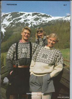 Røisheim Ull og Tull 8 Nordic Sweater, Fair Isle Knitting, Vintage Knitting, Vintage Sweaters, Color Patterns, Tartan, Tweed, Christmas Sweaters, Knit Crochet