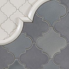Oh, love. The same design tile, two different colors and gorgeous trim. Excellent mix of tile.
