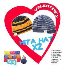 #SanValentino Per tutti voi #innamorati... un' #idearegalo originale: HITA HAT x 2! Un kit e due #hitahat da realizzare in coppia, ed è anche conveniente! Che aspettate? Le trovate qui: www.hitahat.com/extrakit ...#hitahatinlove